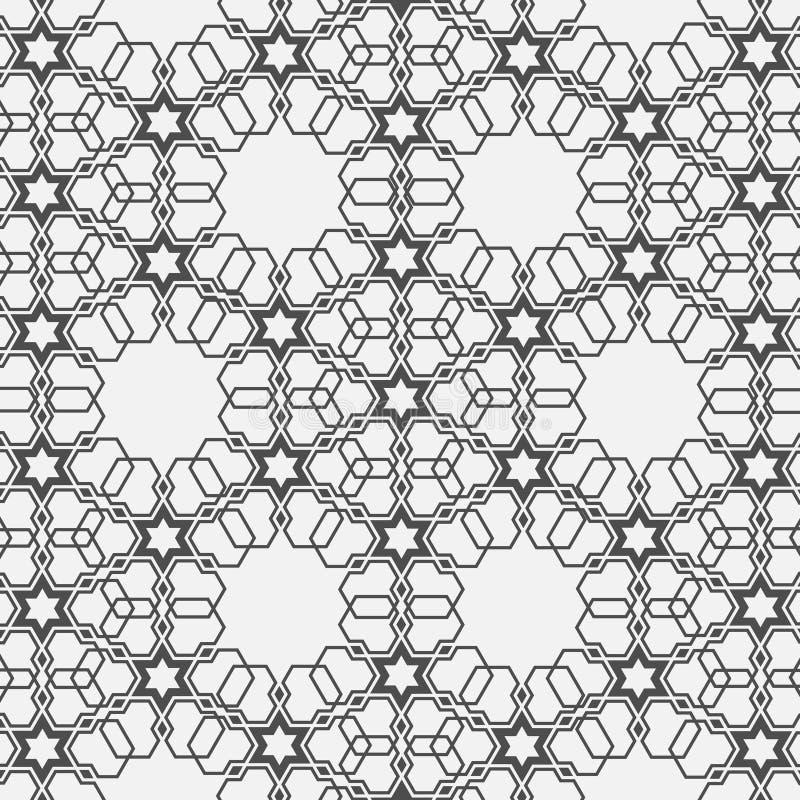 Monochromatisch patroon op Islamitisch motief stock illustratie