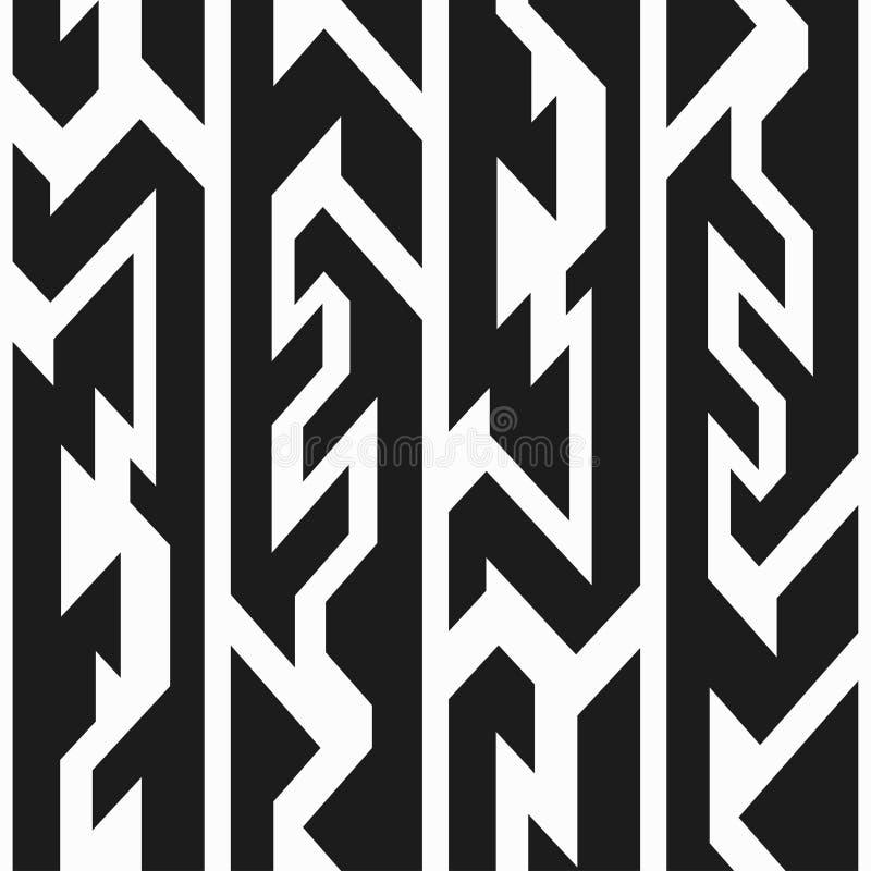 Monochromatycznego totemu bezszwowy wzór ilustracja wektor