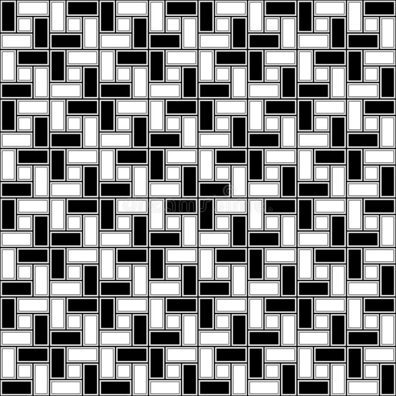 Monochromatycznej cegły spirali płytki clockwise tekstury bezszwowy wzór ilustracji