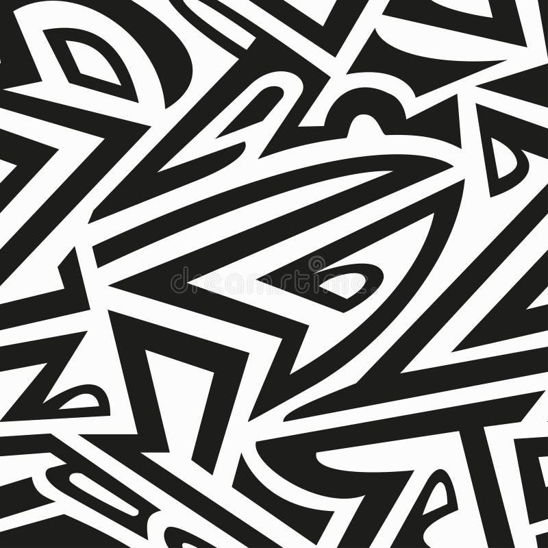 Monochromatyczny afrykański bezszwowy wzór ilustracji