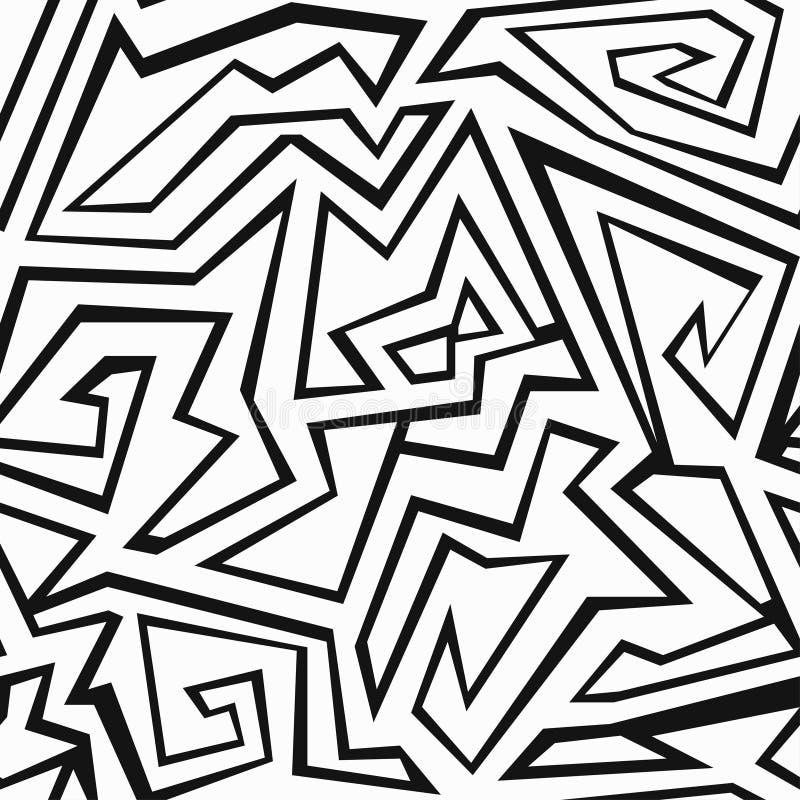 Monochromatyczny aztec bezszwowy wzór royalty ilustracja