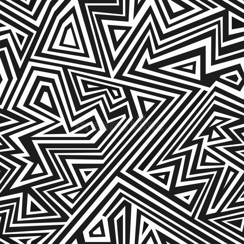 Monochromatyczny aztec bezszwowy wzór ilustracja wektor
