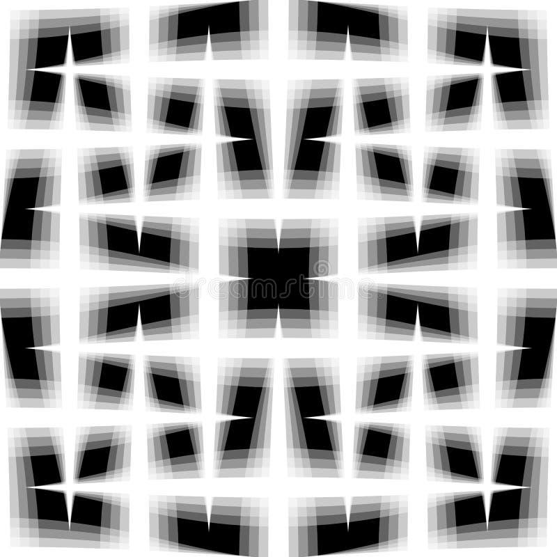 Monochromatyczny bezszwowy wzór przeplatać fading linie Siatka, ja royalty ilustracja