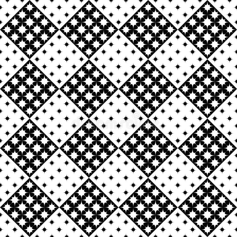 Monochromatyczny geometrical wyginający się gwiazdowego wzoru tła projekt ilustracja wektor
