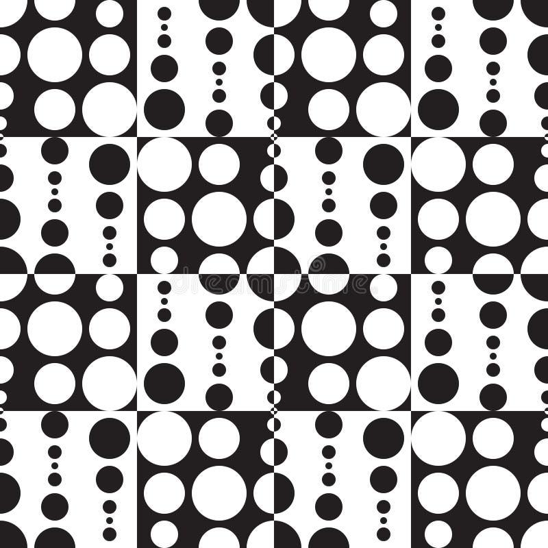 Monochromatyczny Geometryczny tło royalty ilustracja