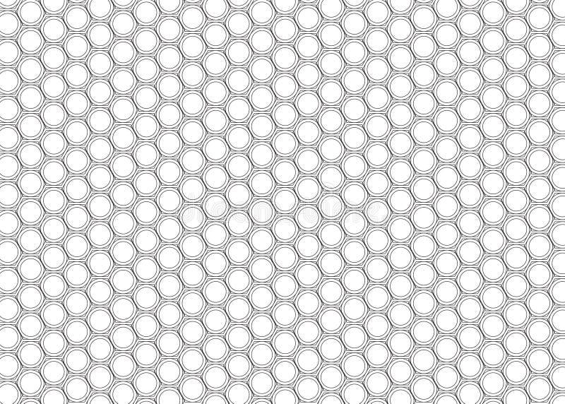 Monochromatyczny Hex płytki wzór ilustracja wektor