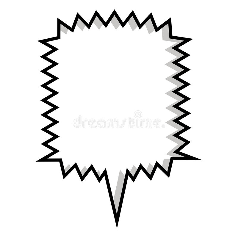 monochromatyczny sylwetka kwadrata callout wrzask dla dialog ilustracja wektor