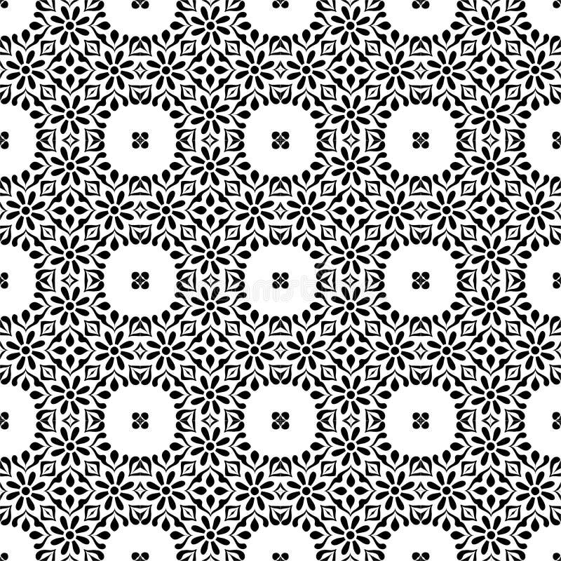 Monochromatyczny wektorowy bezszwowy repeted deseniowy projekt obrazy stock