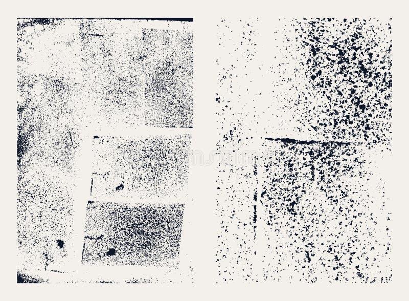 Monochrome абстрактные текстуры grunge вектора Комплект пятен нарисованных рукой бесплатная иллюстрация