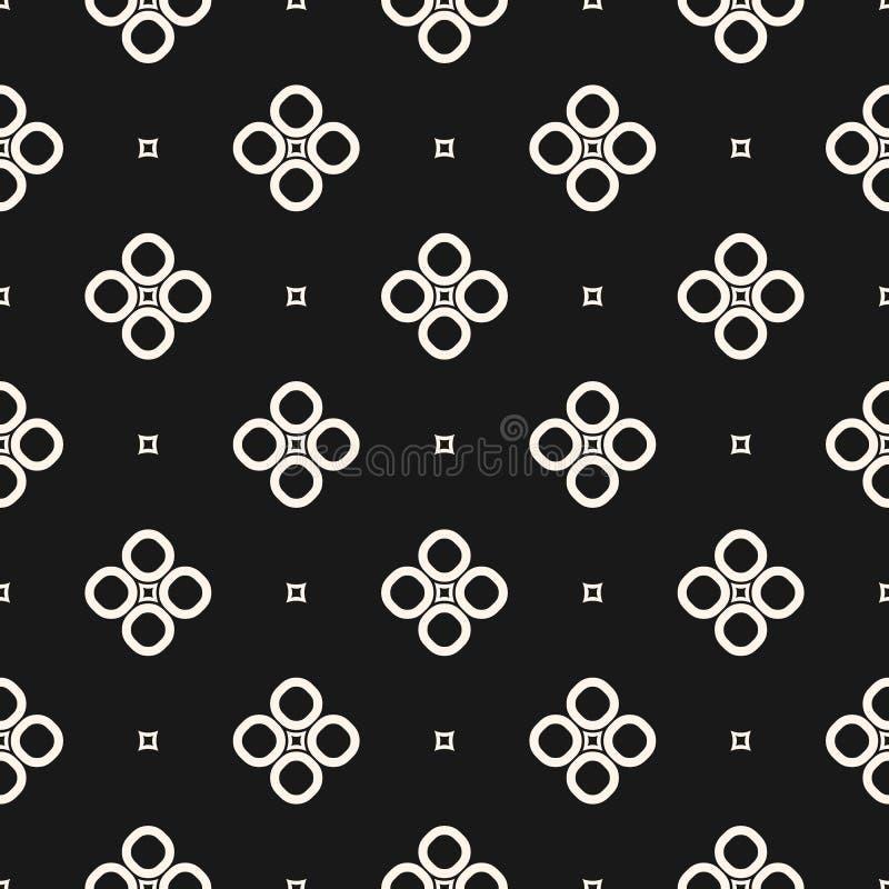 Monochrome безшовная картина, геометрическая текстура вектора, ровный ou иллюстрация штока