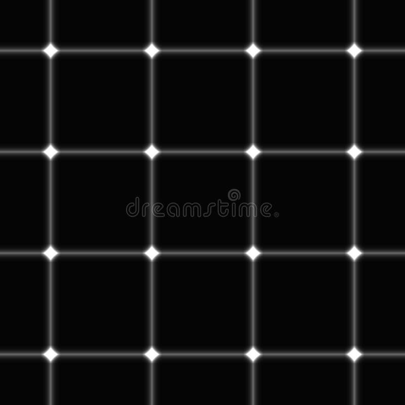 Monochrome безшовная квадратная предпосылка решетки иллюстрация штока