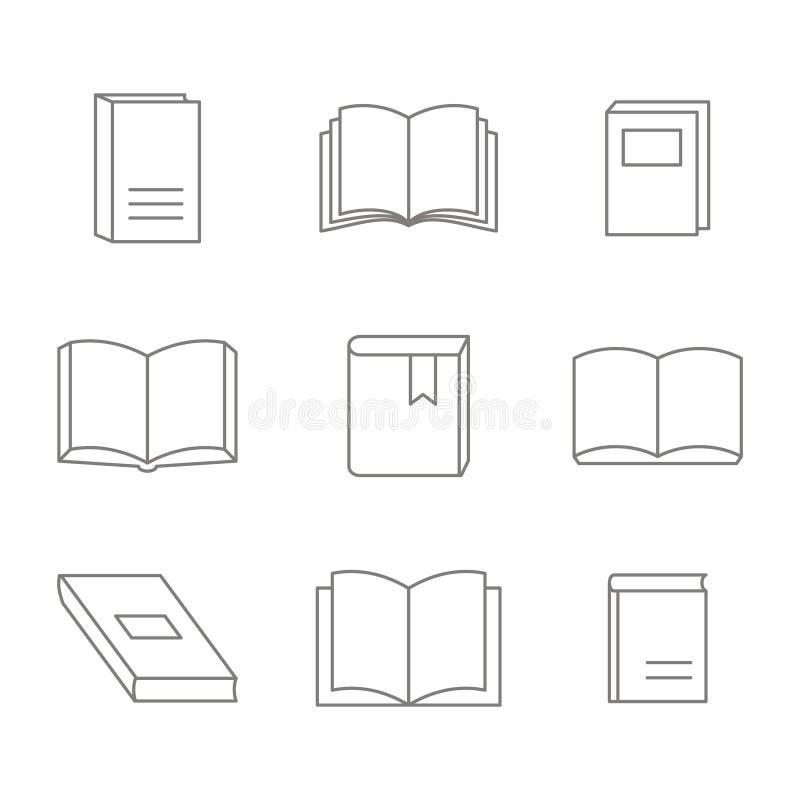 Monochrome вектор установленный с линией значками партии бесплатная иллюстрация