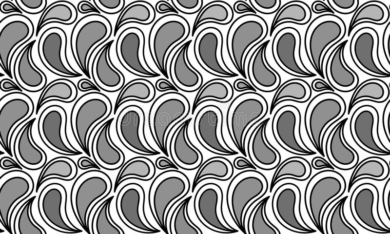 Monochrome вода падает безшовная картина иллюстрация вектора