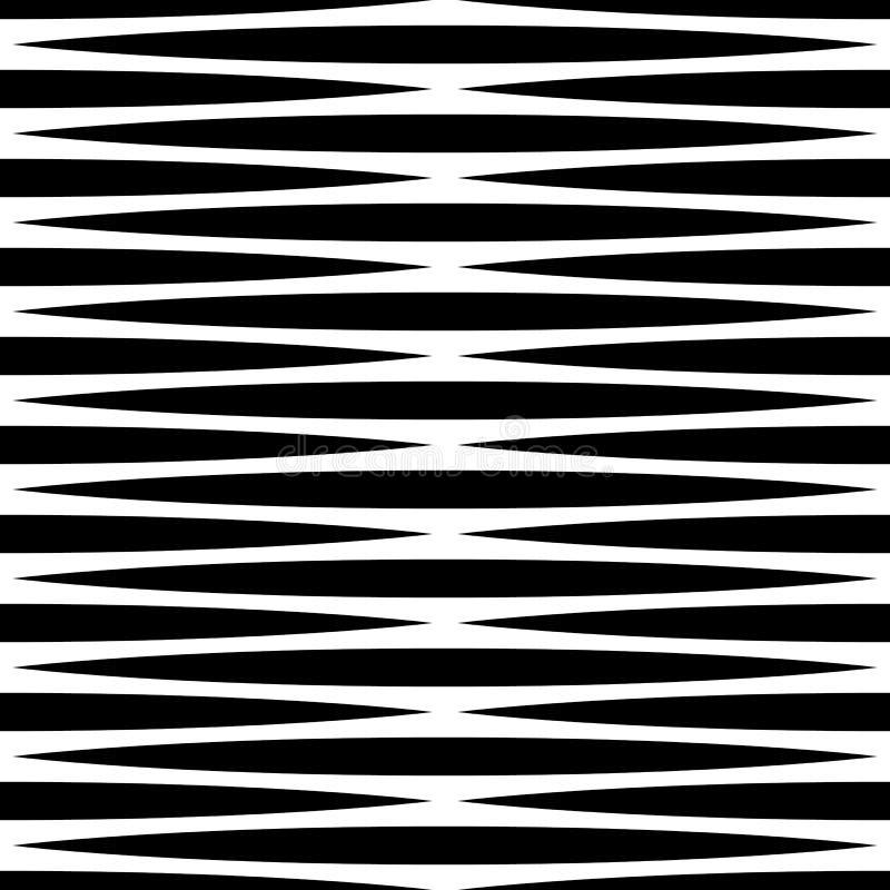 Download Monochrome геометрическая картина с линиями Плавно Repeatable Иллюстрация вектора - иллюстрации насчитывающей параллель, картина: 81800931
