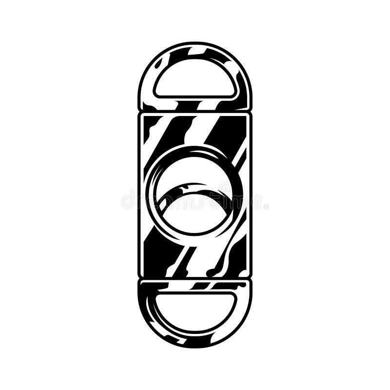 Monochrome гильотина сигары металла иллюстрация вектора