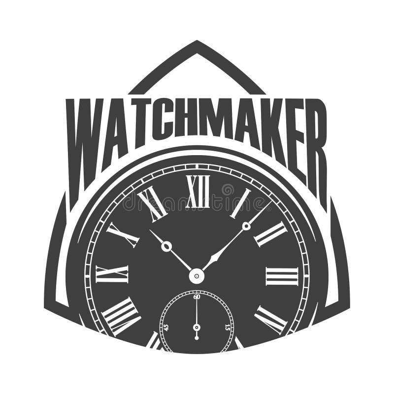 Monochrome значка часовщика бесплатная иллюстрация