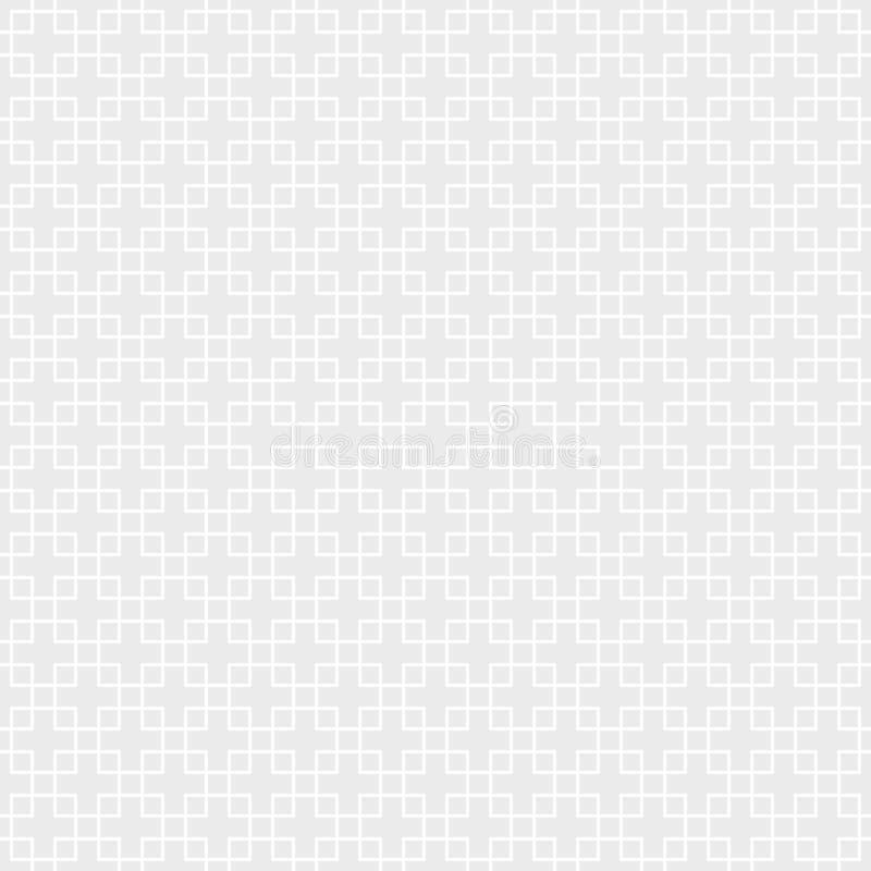 monochrome картина безшовная Геометрическая предпосылка квадратов иллюстрация вектора