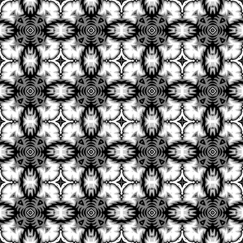 monochrome картина безшовная иллюстрация вектора