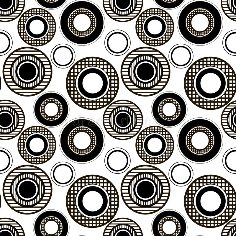 Monochrome картина checkered и striped кругов бесплатная иллюстрация