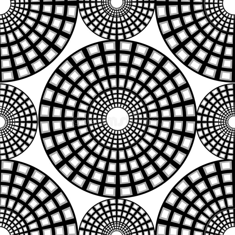 Monochrome картина checkered кругов иллюстрация вектора