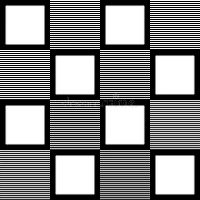 Monochrome картина striped квадратов и белых квадратов бесплатная иллюстрация