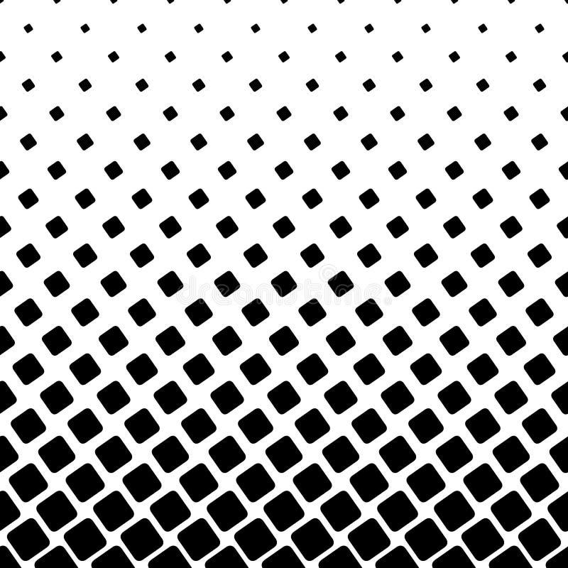 Monochrome квадратная картина - график предпосылки вектора полутонового изображения абстрактный от угловых округленных квадратов бесплатная иллюстрация
