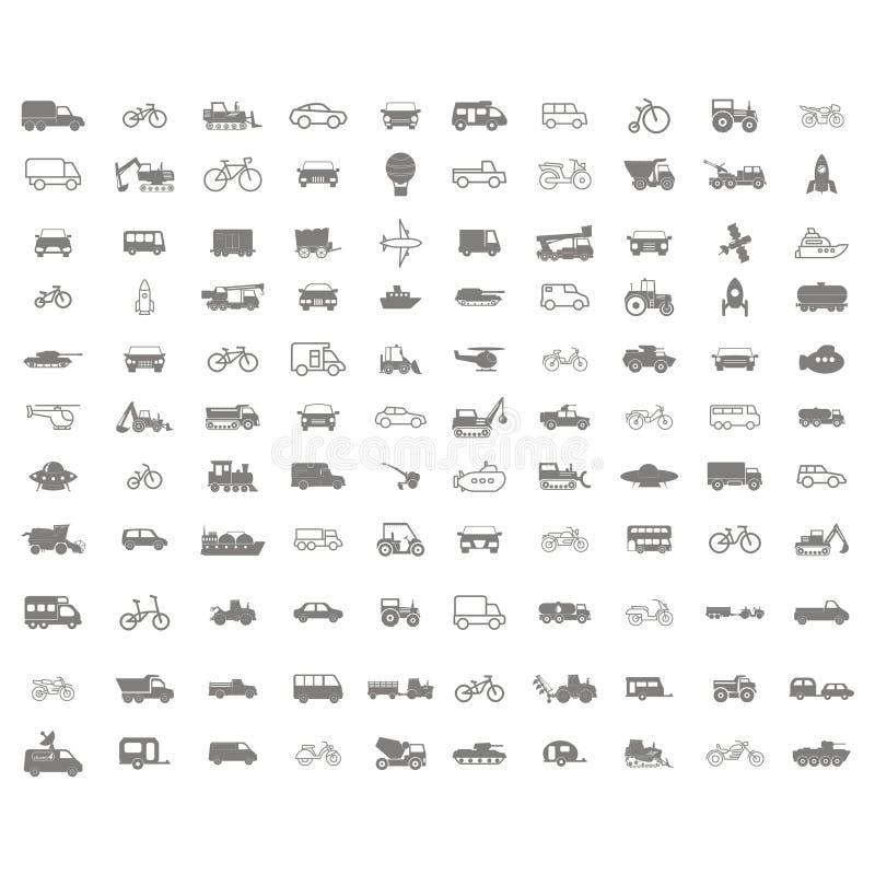 Monochrome набор со значками перехода вектора бесплатная иллюстрация