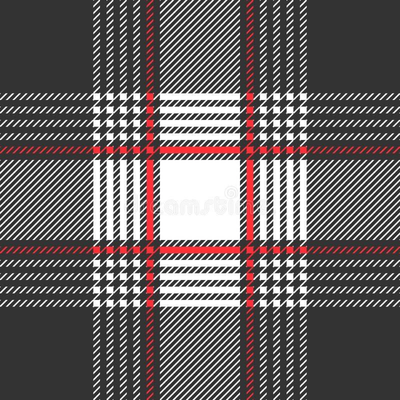Monochrome печать ткани с контролерами и нашивками иллюстрация штока