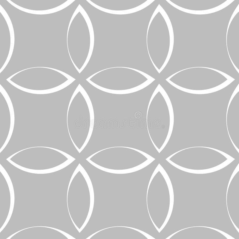 Download Monochrome повторяющийся картина с формами лепестка/цветка/лист Иллюстрация вектора - иллюстрации насчитывающей линии, родово: 81806019