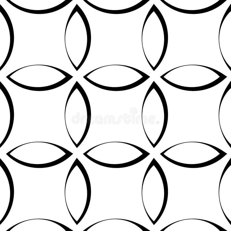 Download Monochrome повторяющийся картина с формами лепестка/цветка/лист Иллюстрация вектора - иллюстрации насчитывающей вакханические, земля: 81806029
