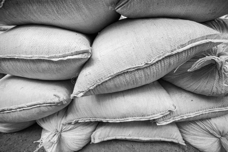 Monochrome сложенная сумка кучи яркая аграрная стоковая фотография