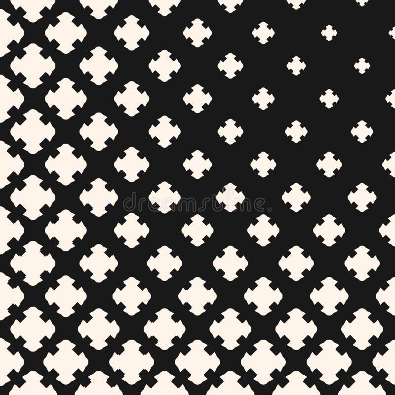 Monochrome текстура, постепенно переходной эффект, высекла кресты иллюстрация штока