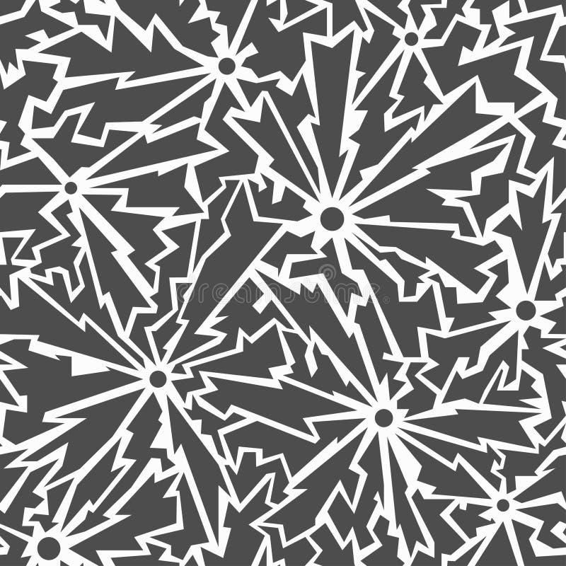 Monochrome трескает безшовную картину иллюстрация вектора