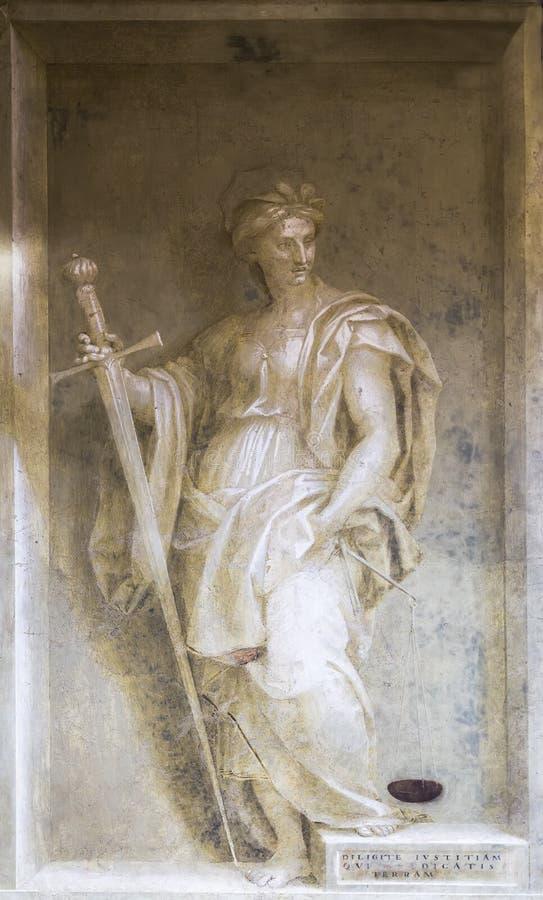 Monochrome фреска стоковая фотография