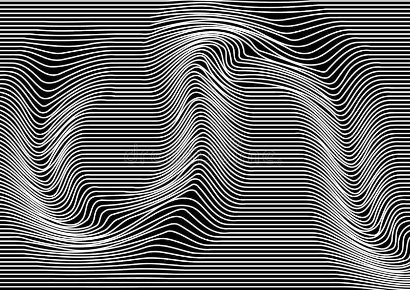 Monochrome abstract background with parallel horizontal lines. Striped texture. Vector vector illustration