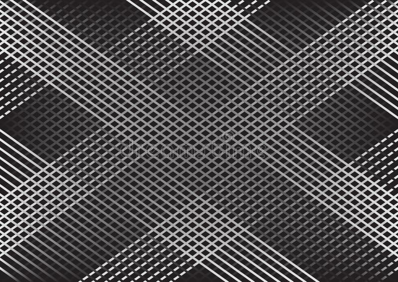 Monochrome abstract geometric background with lines, checkered pattern. Vector vector illustration