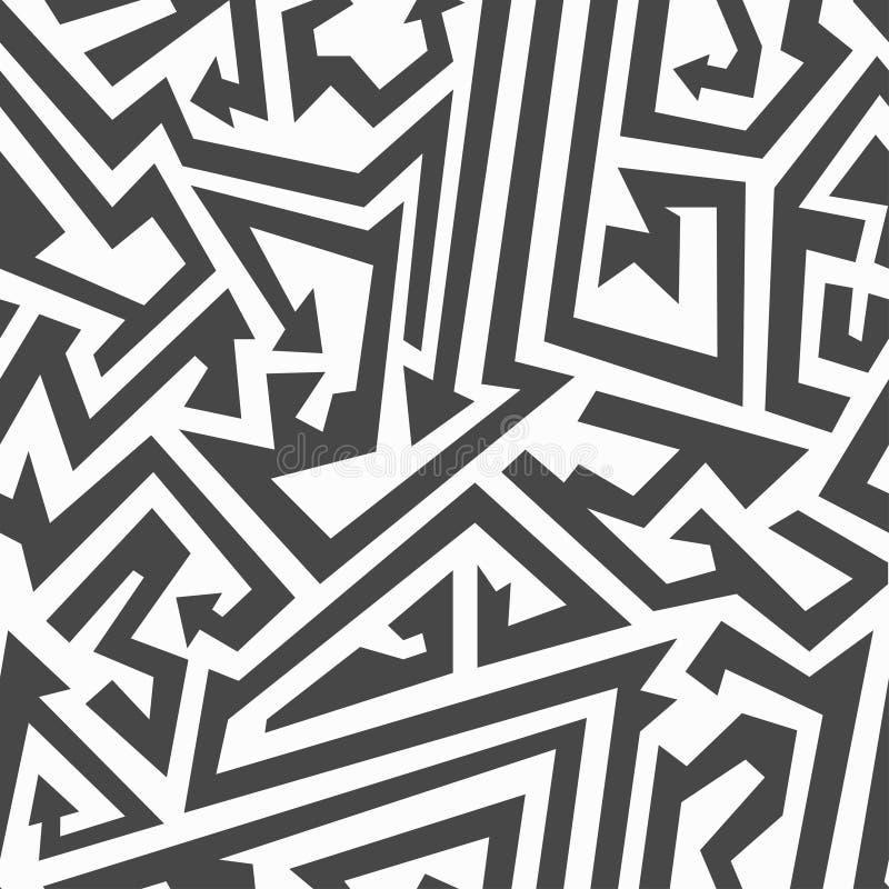 Monochrome arrow seamless pattern. (eps 10 file royalty free illustration