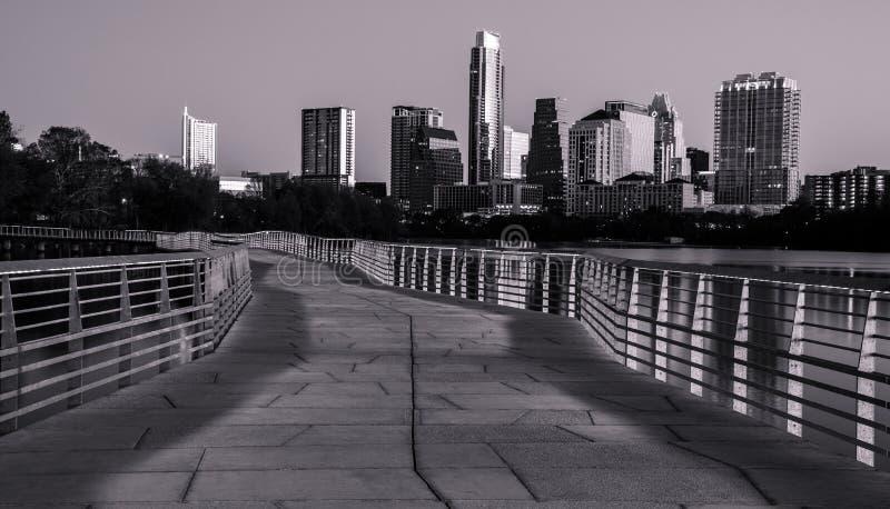 Monochrome Austin Skyline royalty free stock images