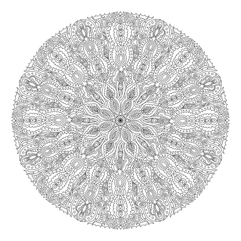 Monochrome black and white lace ornament vector. Eps 8 royalty free illustration