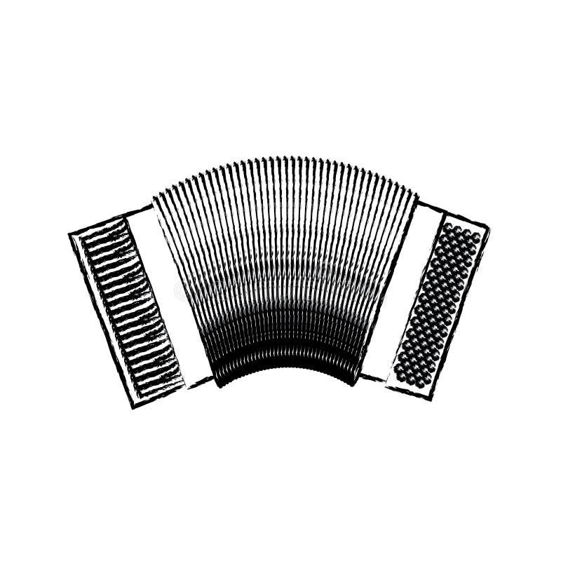 Monochrome blurred silhouette of accordion icon. Vector illustration royalty free illustration