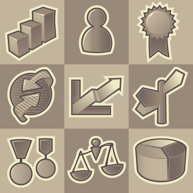 Monochrome business icons