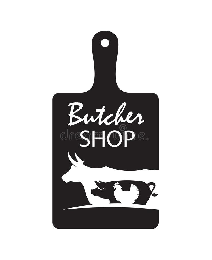 Butcher shop emblem royalty free illustration