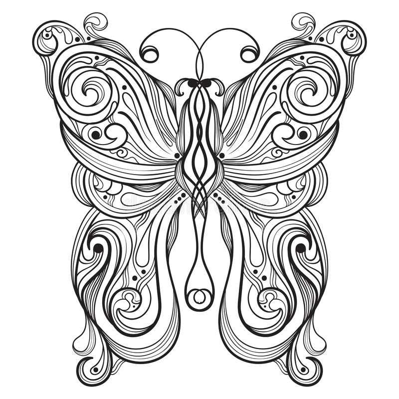 monochrome butterfly royalty free stock images