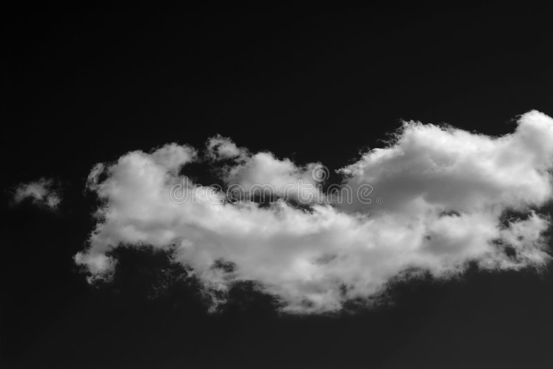 Monochrome Clouds royalty free stock images