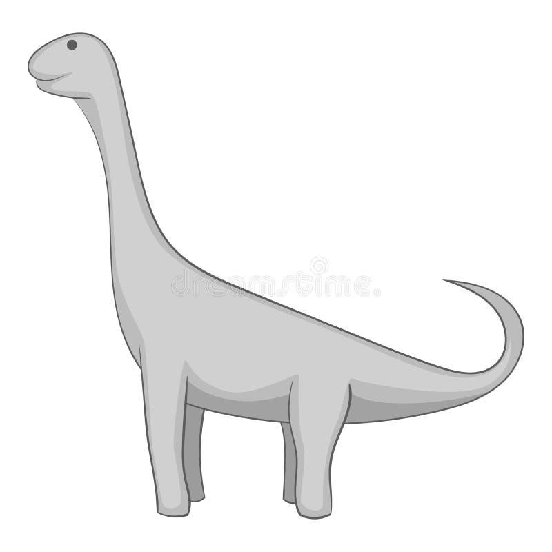 Monochrome d'icône de Brachiosaurus illustration stock