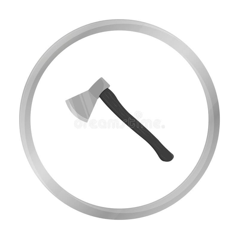 Monochrome d'icône de hache Icône simple d'arme des grandes munitions, bras réglés illustration stock
