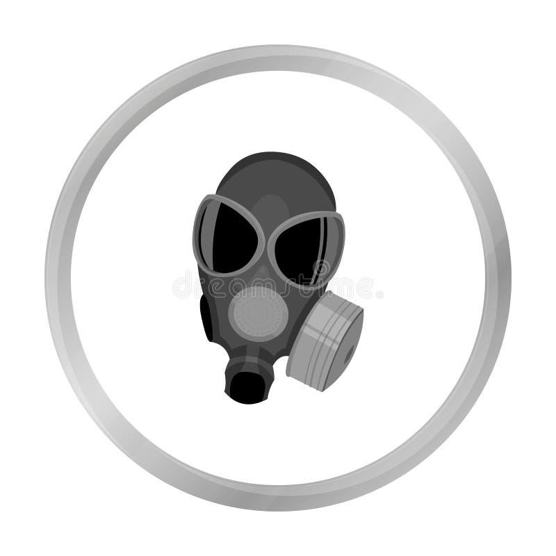 Monochrome d'icône de masques de gaz Icône simple d'arme des grandes munitions, bras réglés illustration libre de droits