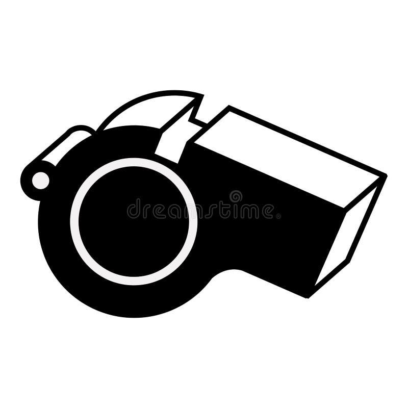 Monochrome de silhouette avec le sifflement de plan rapproché illustration de vecteur