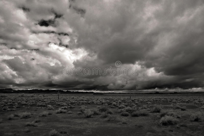 Monochrome Desert Storm royalty free stock images