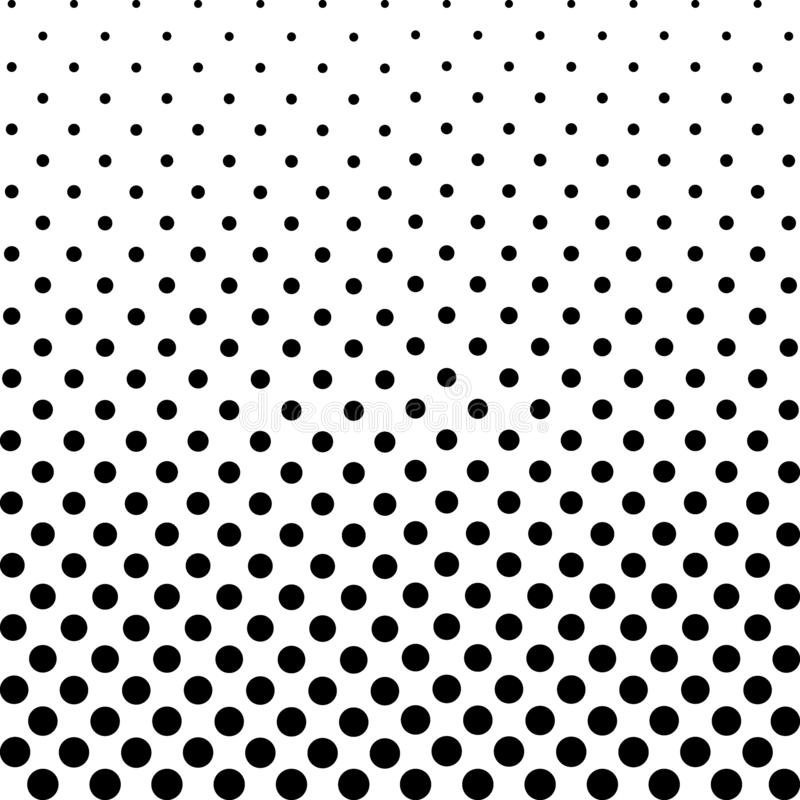 Monochrome Dots Background. Abstract Fade Backdrop. Vintage Gradient Texture. Pop-art Pattern. Vector illustration royalty free illustration